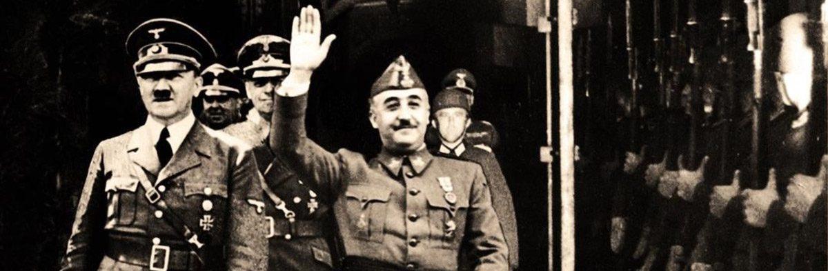Franco y Hitler en Hendaya.- AFP