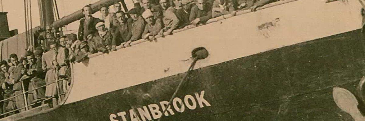 Salida del 'Stanbrook' del Puerto de Alicante
