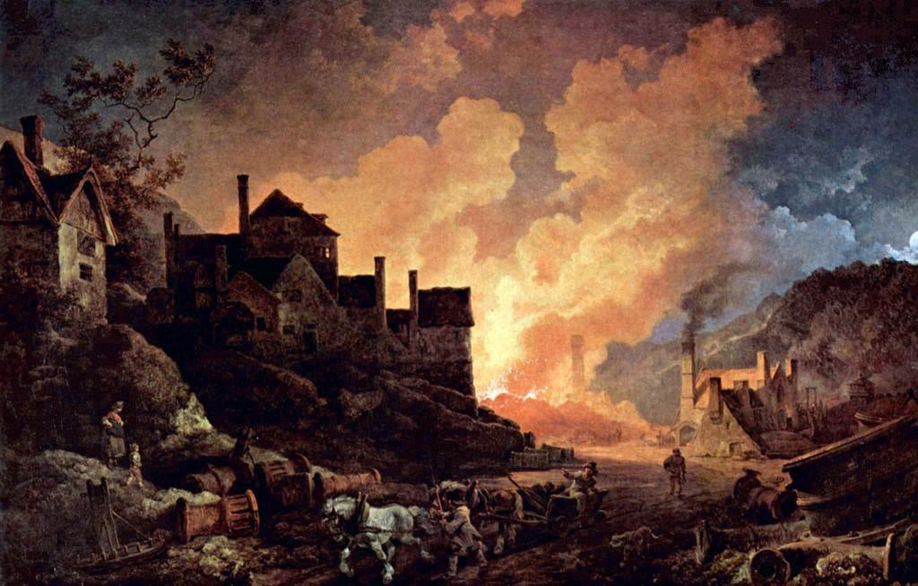 Coalbrookdale de Noche (1801)