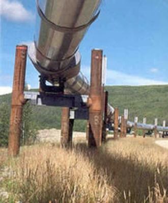 El oleoducto Trans-Alaska.