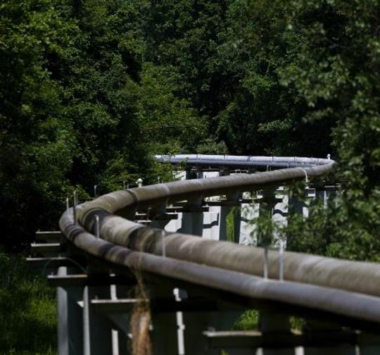 Un tramo del oleoducto Druzhba, el más largo del mundo, cerca de la frontera entre Chequia y Eslovaquia.