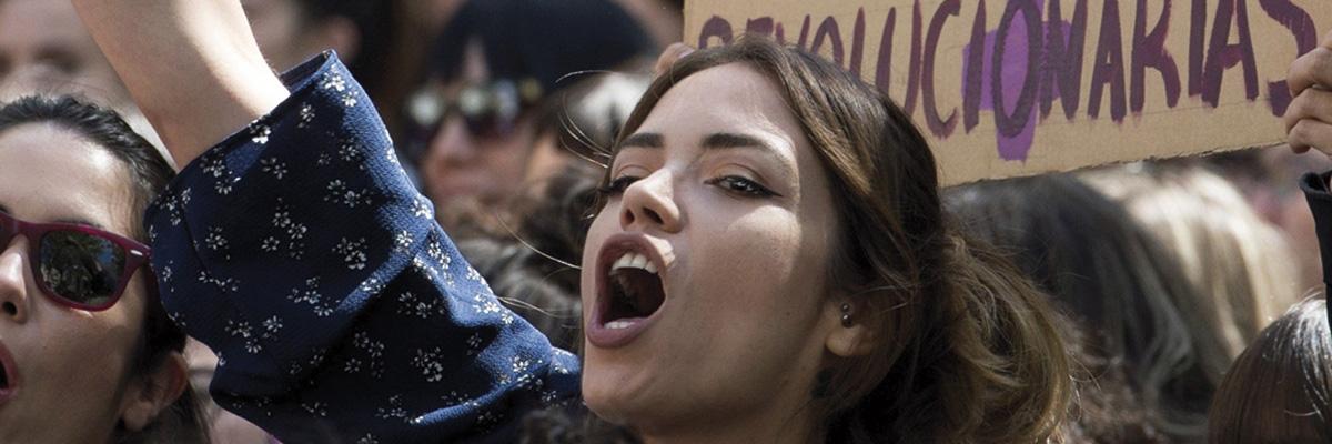 Protestas contra sentencias de los tribunales de Justicia.- EFE