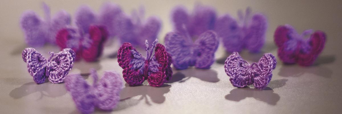 Las mariposas que crea Itziar Prats para sensibilizar a niños y niñas sobre violencia de género.- FERNANDO SÁNCHEZ
