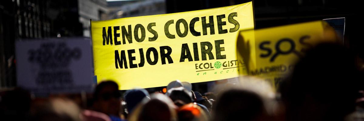Manifestación en defensa de Madrid Central.- EFE