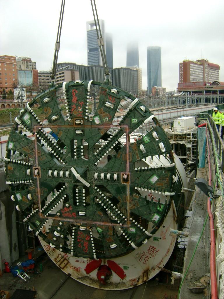 Montaje de una tuneladora