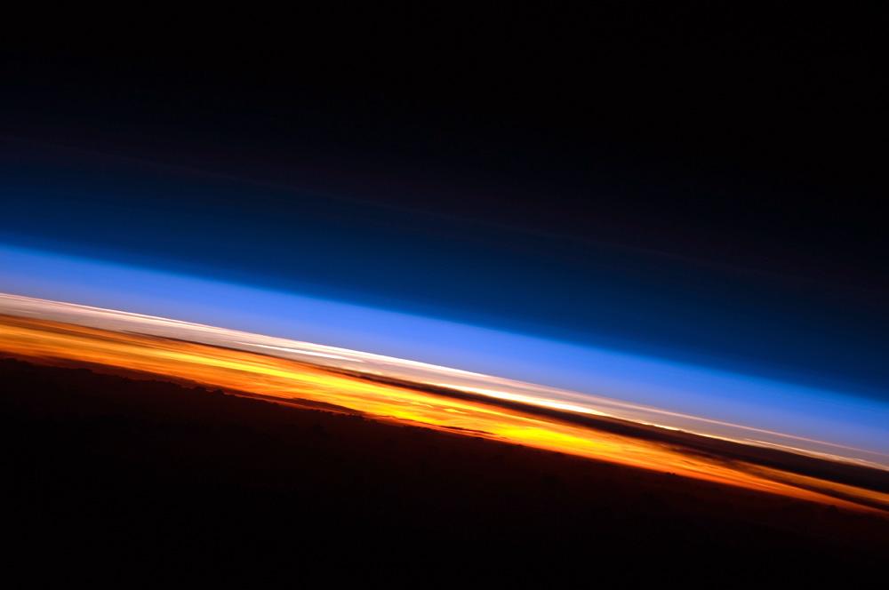 La atmósfera terrestre vista desde la Estación Espacial.