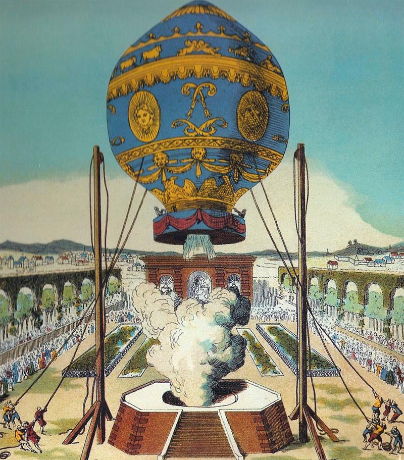 Globo de los hermanos Montgolfier.