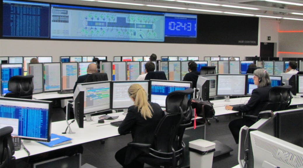 Hub control de Iberia, terminal T4, Madrid-Barajas.