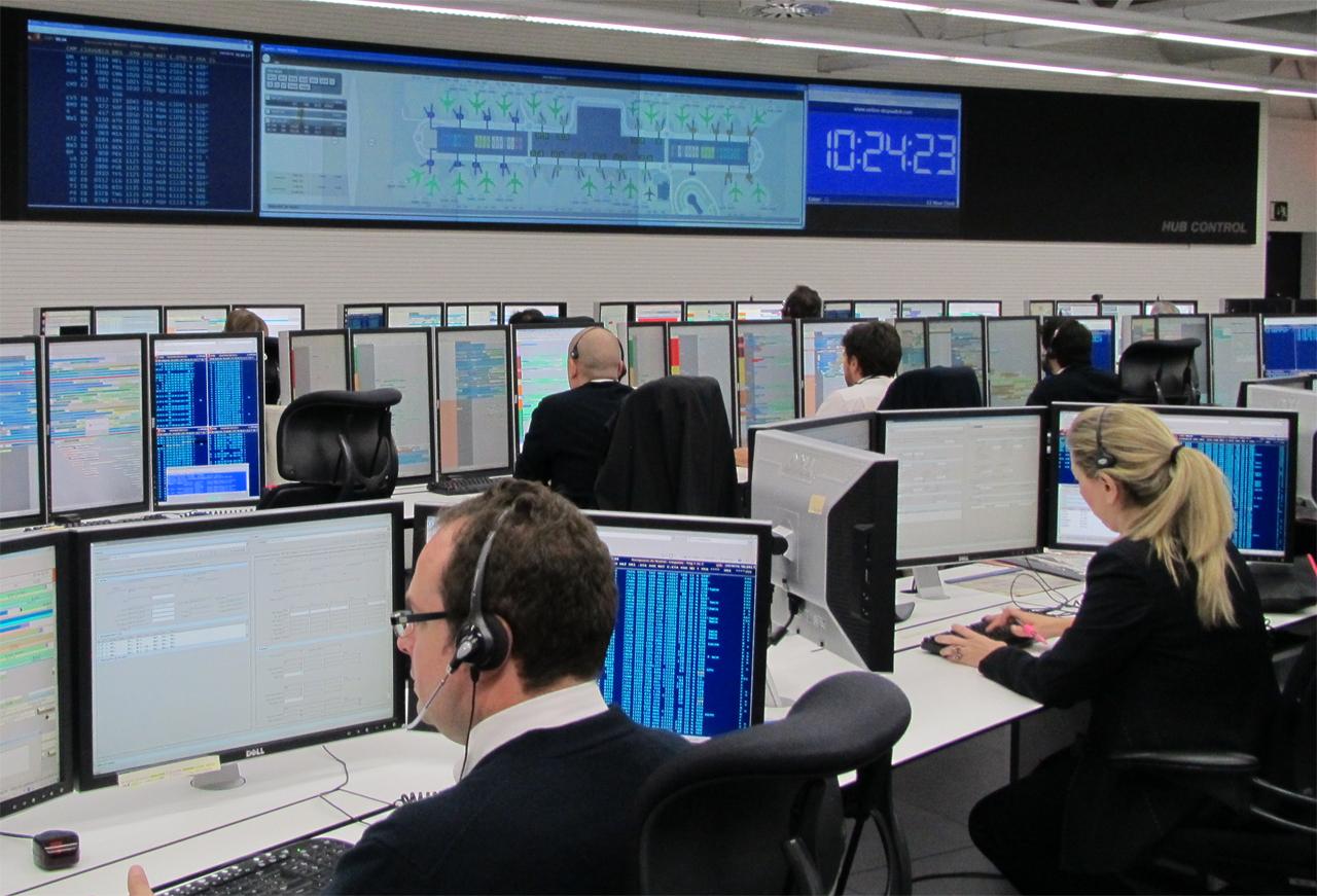 Hub control para el handling de Iberia en la terminal T4 de LEMD.