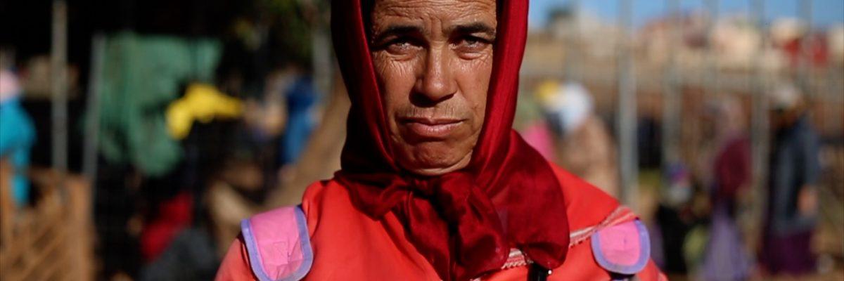 Fadma en la frontera entre Melilla y Marruecos durante una jornada de trabajo.