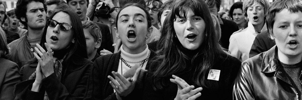 Desfile del 1 de mayo de 1968 en París durante el Día del Trabajo organizado por la CGT y el Partido Comunista en París. JACQUES MARIE - AFP GETTY IMAGES