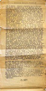 Parte de la Guardia Civil abierto a Abundio Pérez el 11 de noviembre de 1947.- ARCHIVO FAMILIAR