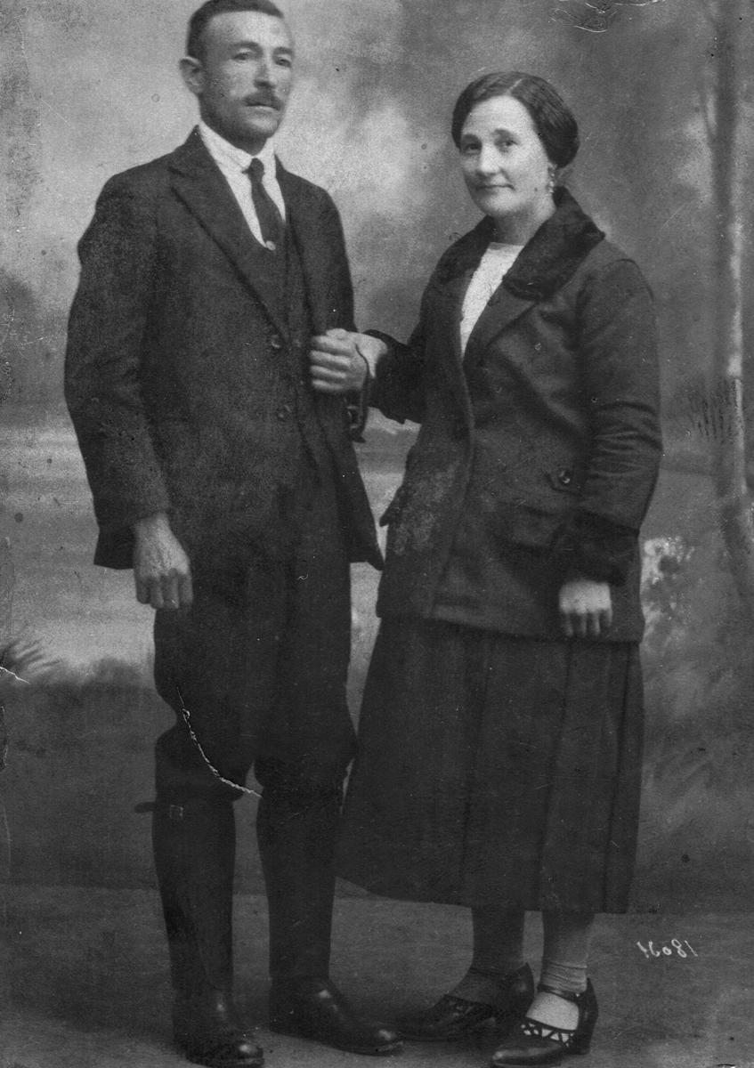 Francisco Javier Martín con su esposa, Leonides Martín Martín.- ARCHIVO FAMILIAR